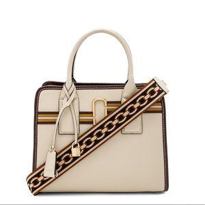 Marc Jacobs Striped Big Shot Bag Parchment Multi